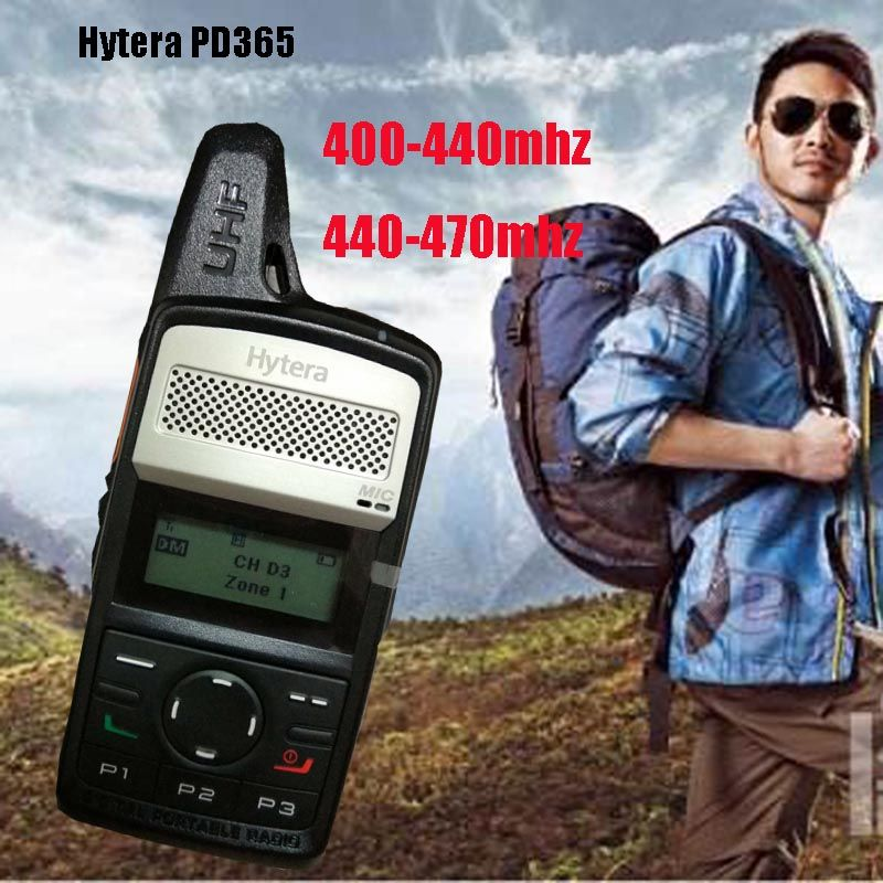 100% original Hytera PD365 walkie talkie Frequency 400-440mhz 440-470mhz 256 store channel portable radios equipment for hunting