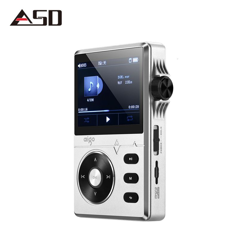 ASD Aigo MP3-108 High-quality 8G Portable Audio Lossless Hifi Music Player Support APE/FLAC/ WMA/ WAV/OGG/ACC/MP3
