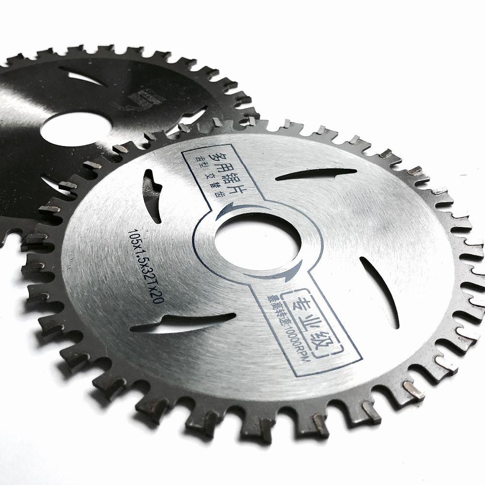 Livraison gratuite 2 PCS/pack haute qualité en aluminium coupe 105*1.5*20*32 T TCT lame de scie pour NF métal aluminium/fer profil coupe