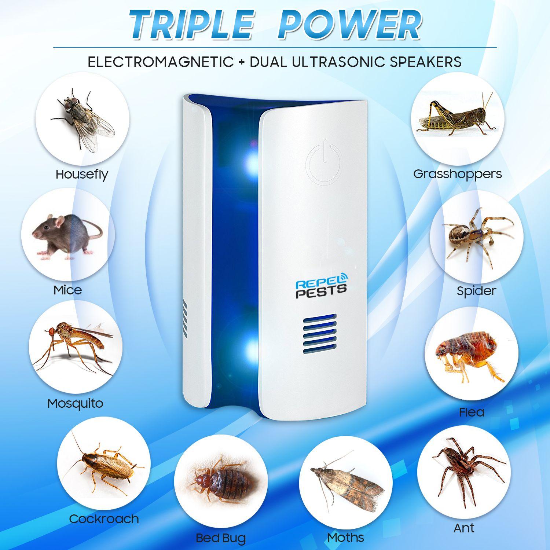 Conversion de fréquence ultrasons électronique tueur de moustiques répulsif souris cafard moustiques mites tueur d'insectes lutte antiparasitaire