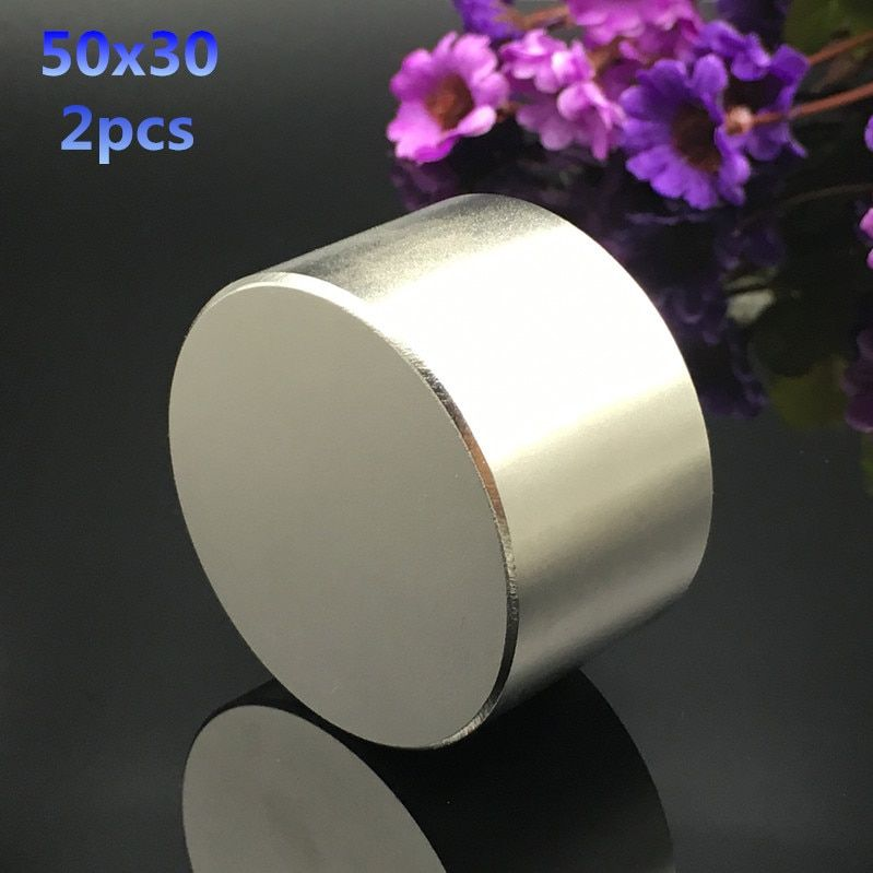 Free shipping 2pcs 50mmx30mm hot round magnets 50x30mm strong Rare Earth Neodymium Magnet 50x30 mm wholesale Dia 50*30 mm