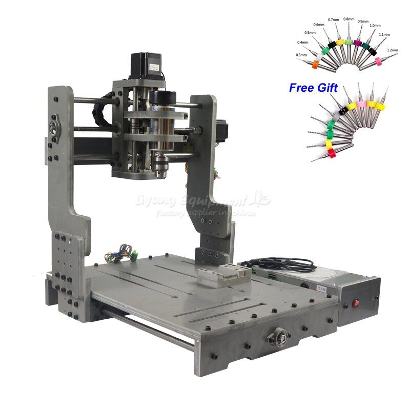 CNC 3040 300W DC Power Spindle Motor CNC Engraving Machine Drilling Router with Rotary Axis