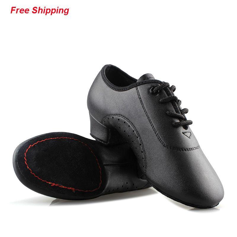 Profesional Negro Zapatos Latinos Niños Latin Dance