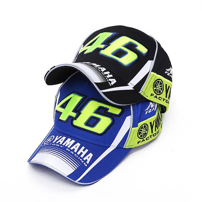 Último estilo Rossi VR46 marca baseball Cap Moto GP factory Racing motocicleta 46 SnapBack sombrero hombres mujeres al aire libre casquette