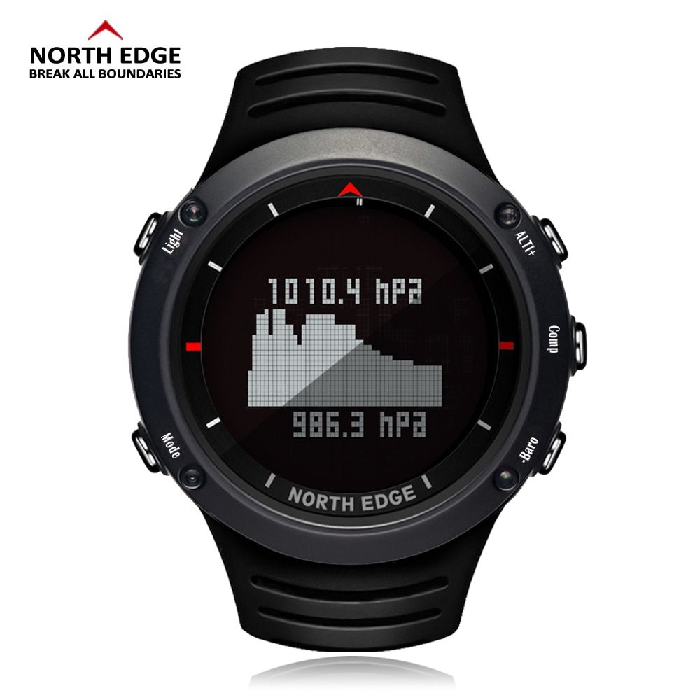 NORTH EDGE Men Sports Watch Altimeter Barometer Compass Thermometer Weather Forecast Watches Digital Running Climbing Wristwatch