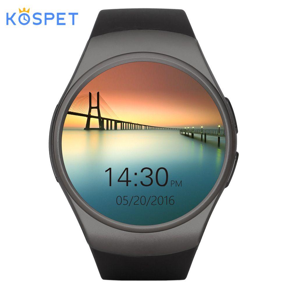 KOSPET KW18 Bluetooth montre intelligente hommes femmes Support moniteur de fréquence cardiaque SIM laisser 3G 16 GB TF carte Smartwatch pour Android IOS