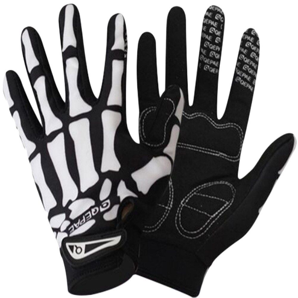 Full finger Cycling Bicycle Touch Gloves road Mountain bike sports gloves non-slip breathable gloves warm damping gloves Skull 2