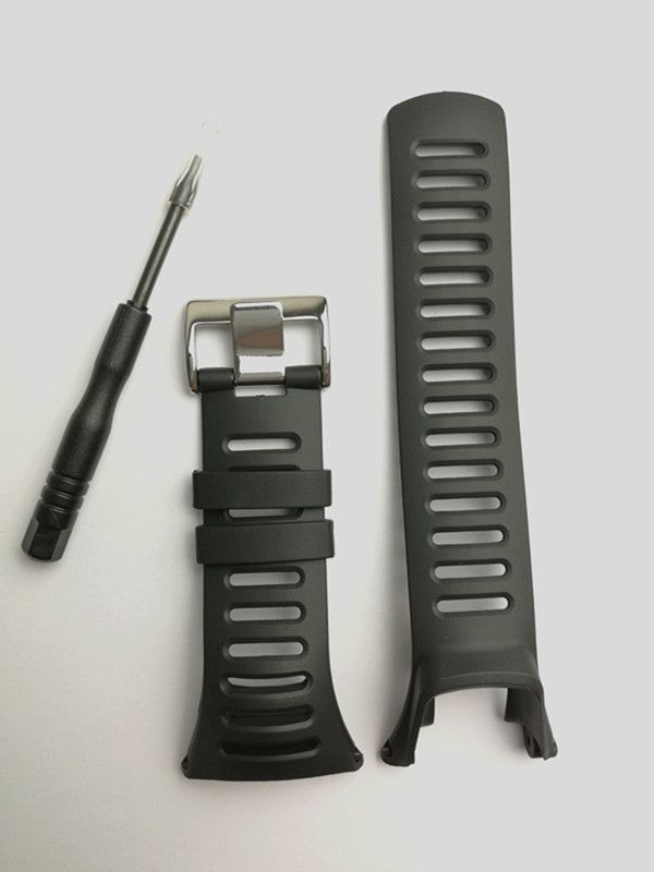 New Watch Accessories For SUUNTO Ambit 1 2 2R 2S 24mm Men's Watch Rubber strap Strap Steel Band Screwdriver