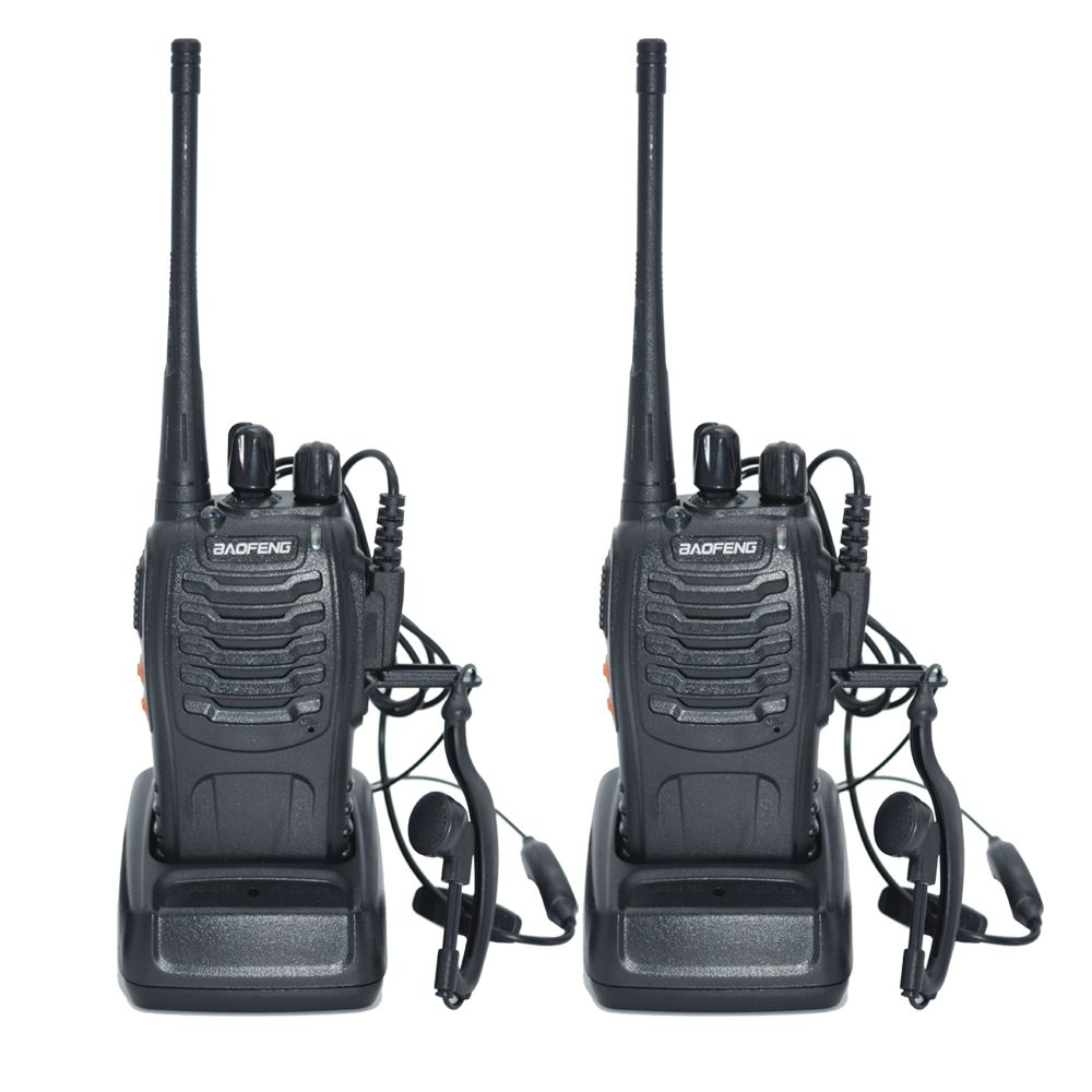 2 pcs Talkie Walkie Radio BaoFeng BF-888S 5 w Portable Jambon CB Radio à Deux Voies De Poche HF Émetteur-Récepteur Interphone bf-888s