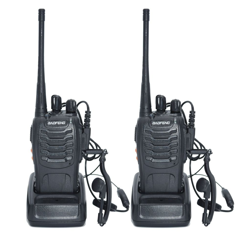 2pcs Walkie Talkie Radio BaoFeng BF-888S 5W Portable Ham CB Radio  Two Way  Handheld HF Transceiver Interphone bf-888s