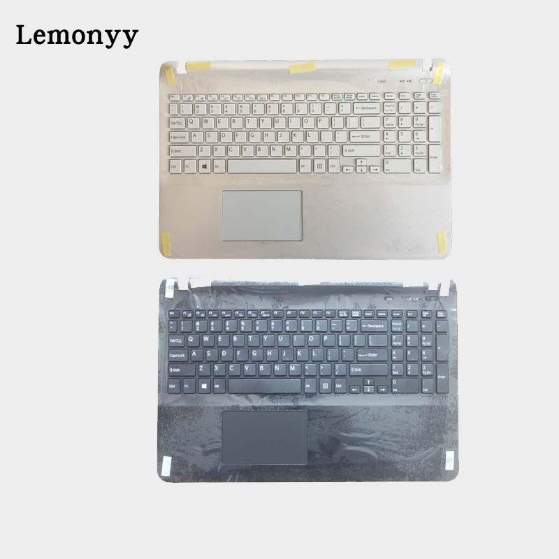 US laptop keyboard for sony Vaio SVF15NE2E SVF152A29M SVF15A1M2ES SVF152a29u with frame Palmrest Touchpad Cover