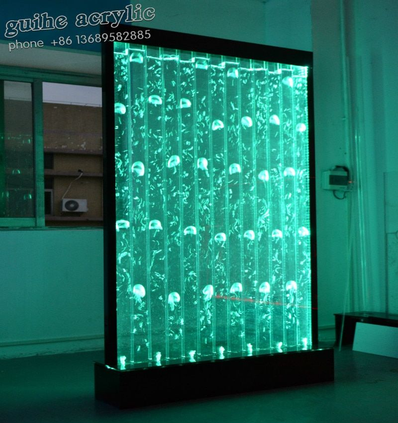 Fabrik Breite 100 * Höhe 180 CM Wasser LED Wand mit Verschiedenen Blase Entscheidungen Eingerichteten Zimmer, Hotel, restaurant, Café, Büro, Shop