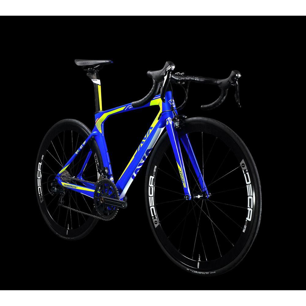 2017 JAVA CANNONATA2 Carbon 700C Rennrad mit Rivalen Schalthebel Umwerfer Aluminium Räder 22 geschwindigkeit Direktmontage Bremsen