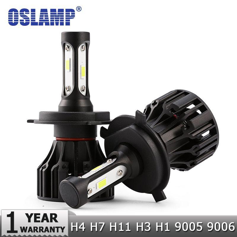 Oslamp 72 w COB Puces H4 H7 LED Phare De Voiture Ampoules H11 H1 H3 9005 9006 Salut-Lo Faisceau 8000lm 6500 k Auto Projecteur Led Lumière DC12v 24 v