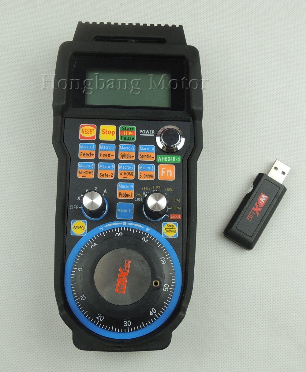 Graviermaschine fernbedienung handrad mach3 MPG USB wireless handrad für CNC 3 achsen 4 controller fräsmaschine