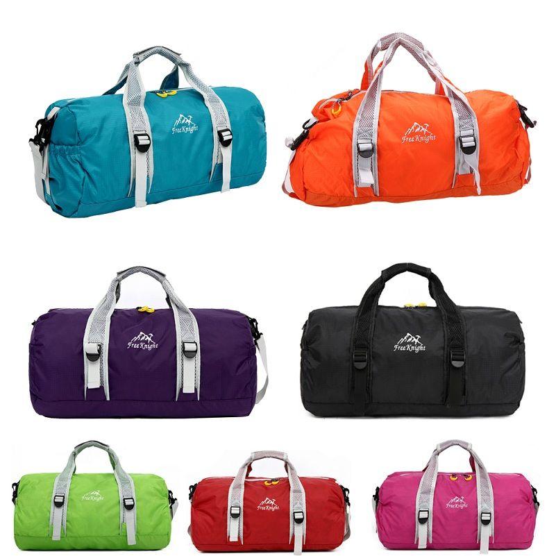 Hohe Qualität Unisex 210 Wasserdichte Nylon Große Kapazität Ultraleicht Faltbare Outdoor Sporttasche Taschen Reise Seesäcke