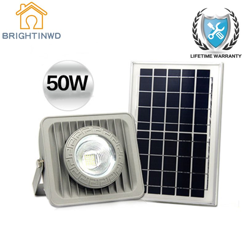 Solar Light 50W Spotlight Energy-saving lighting Emergency Lights Garden Lawn Lamp Floodlights Outdoor Waterproof IP65
