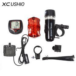 Велосипедный спидометр и 5 светодиодный велосипедный фонарь для горного велосипеда и задний габаритный фонарь