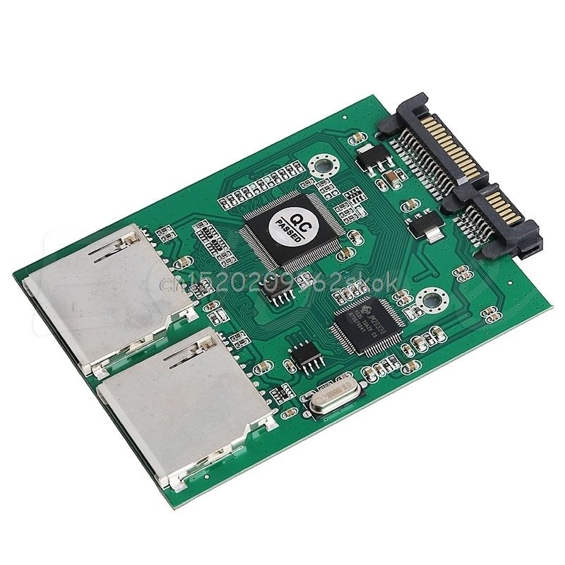 2 Порты и разъёмы Dual SD SDHC MMC RAID SATA конвертер адаптер для любого Ёмкость SD Card # H029 #