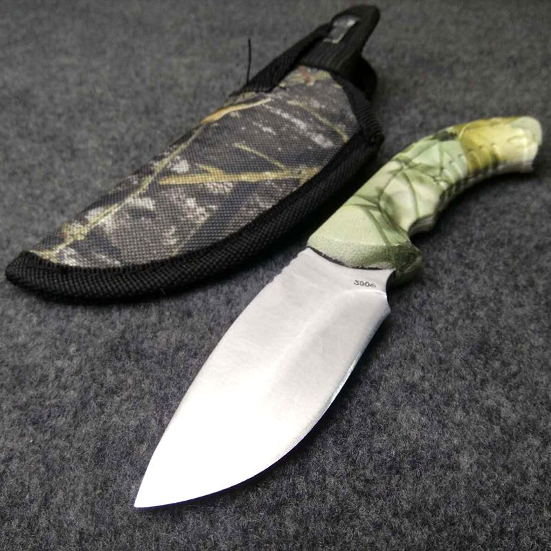 Hot Fixed Blade Knife 420 Stainless Steel 56HRC Hardness Camouflage Hunting Knife Outdoor Survival Knife SDIYABEIZ