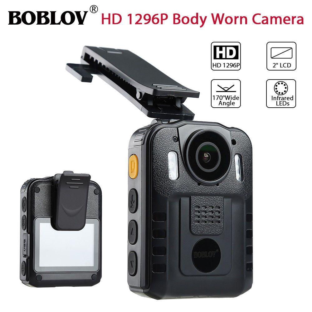 BOBLOV WN9 HD 1296P Novatek 96650 IR Night Vision Body Worn Camera 170 Degree Security Pocket Police Camera Video Recorder