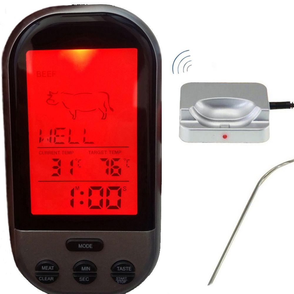 Wireless Digital Oven <font><b>Thermometer</b></font> Kitchen Food Cooking <font><b>Thermometer</b></font> BBQ Grilling Smoker Turkey Meat Water Sugar Liquid TEMP Probe