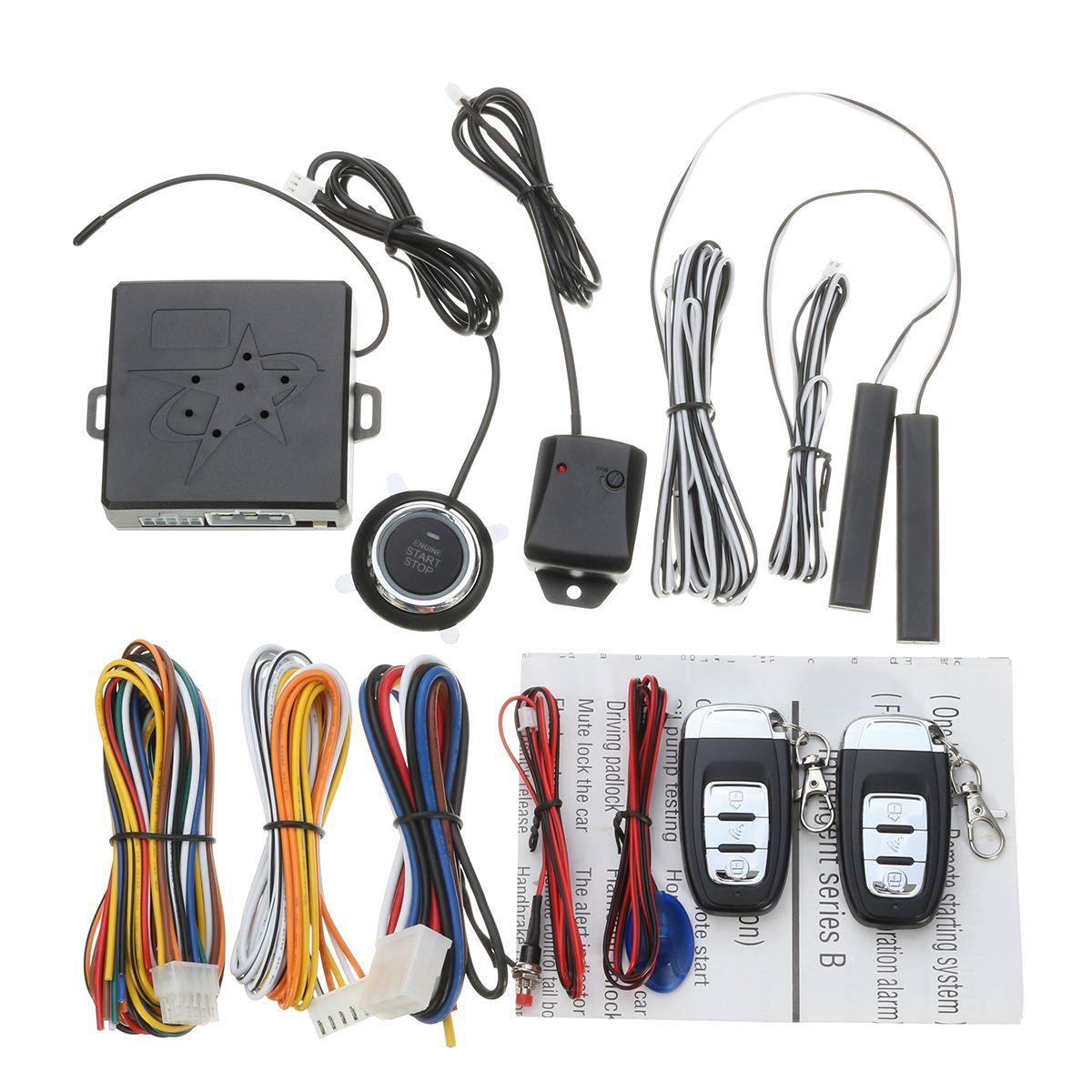 1 Set Universal Car RFID Immobilizer Car Alarm Start Security System Keyless Start Push Button