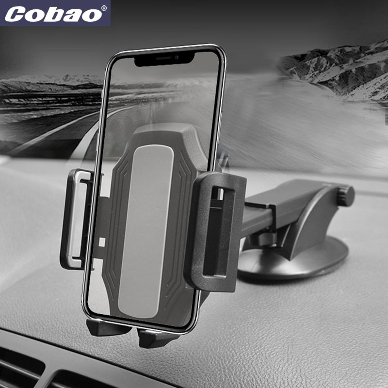 Cobao Universal Car Phone Holder 360 Adjustable Windshield Retractable Car Cell Phone Holder For iPhone Samsung Phone Mount