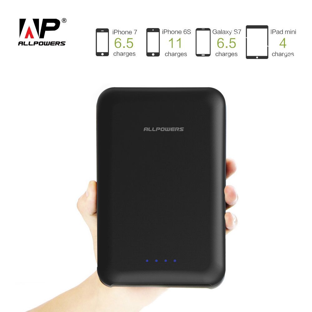 ALLPOWERS High Capacity 30000mAh Power Bank Quick Charging Portable Charger External Battery for iPhone 6 6s 7 8 8s Samsung