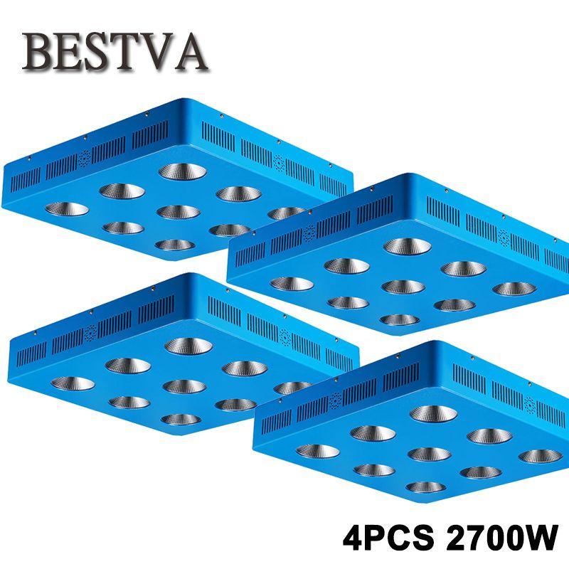 BESTVA 4PCS/Lot COB 2700W Led grow light full spectrum Lamps for indoor plants Flowers hydroponics system hydroponics system