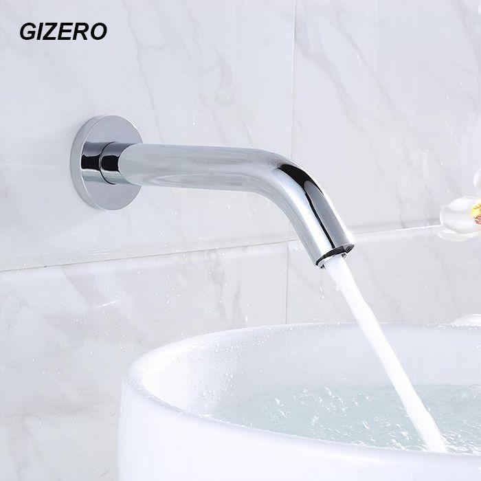 Capteur robinet automatique capteur gonflable main sans contact robinet hôtel toilette salle de bains infrarouge robinet mural ZR1031