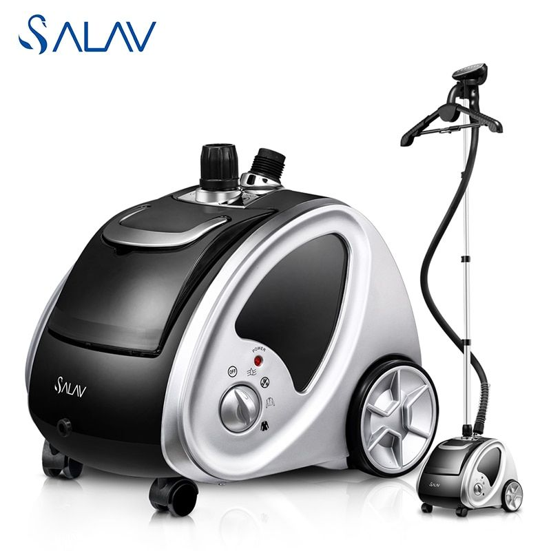 Final Sale! SALAV GS29-UK 1500W 1.8L Vertical Clothes Steamer Stainless Steel Nozzle 4 Power Settings 9 Accessories
