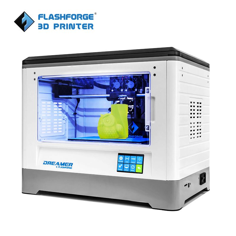Flashforge 3D Printer Dreamer <font><b>WIFI</b></font> and touchscreen with CE FCC Certificate Dual Extruder Fully Enclosed Chamber W/2 Free Spool
