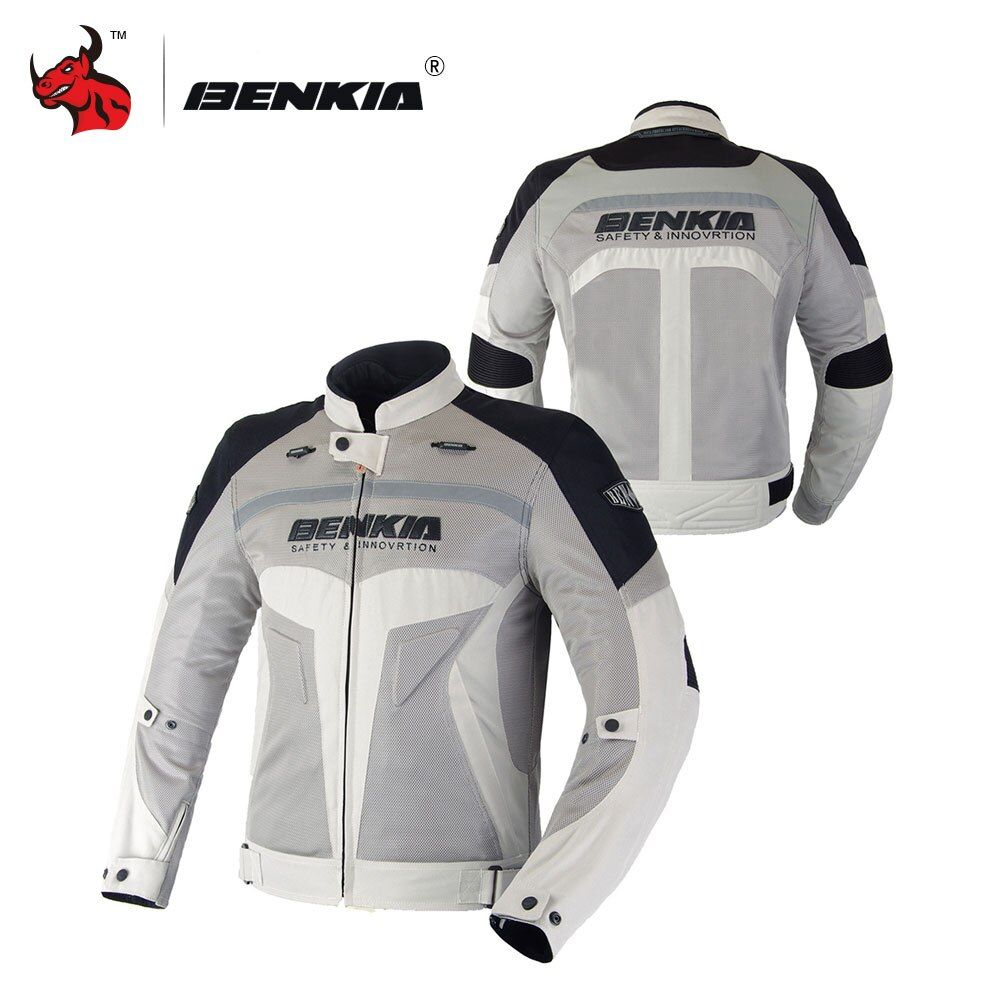 BENKIA Motorcycle Summer Jcaket Men Racing Clothes Spring And Autumn Mesh Breathable Motorcycle Protective Clothing