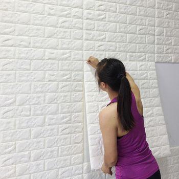 Self-adhesive wallpaper brick pattern 3d wall stickers waterproof crash foam kindergarten soft package wallpaper wall stickers