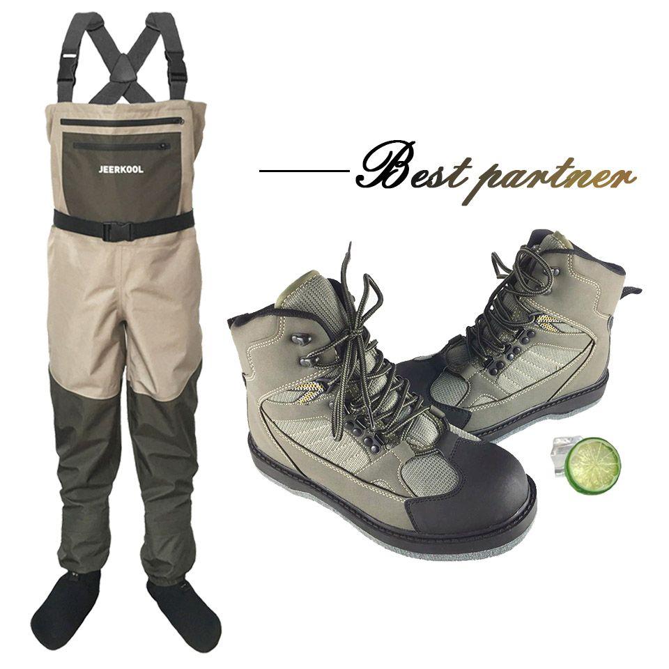 Fliegen Angeln Jagd Hosen und Schuhe Im Freien Wasserdichte und Atmungsaktiv Wader Kleidung Brust Overalls mit Angeln Schuhe LXM1