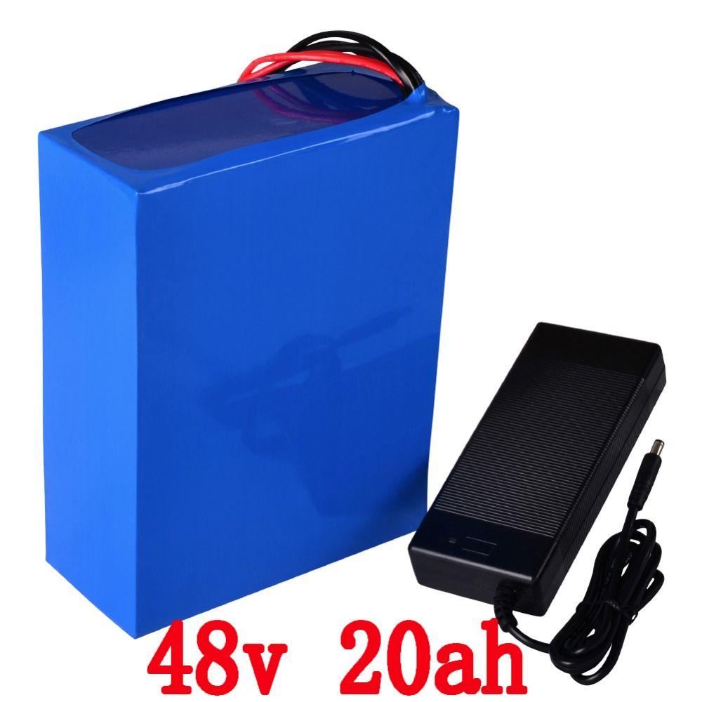 Freies gewohnheiten duty 48 v 1000 watt lithium-batterie 48 v 20AH ebike batterie 48 v 20ah elektrische fahrrad batterie mit 30A BMS 54,6 v 2A Ladegerät