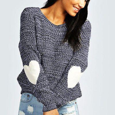 Новый Для женщин Повседневное с длинным рукавом Трикотажный пуловер Топы корректирующие свободные свитера Трикотаж джемпер