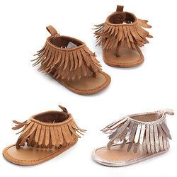 First Walkers Newborn Infant Baby Girls Tassel Prewalker Summer Tassels Leather Shoes 0-12M