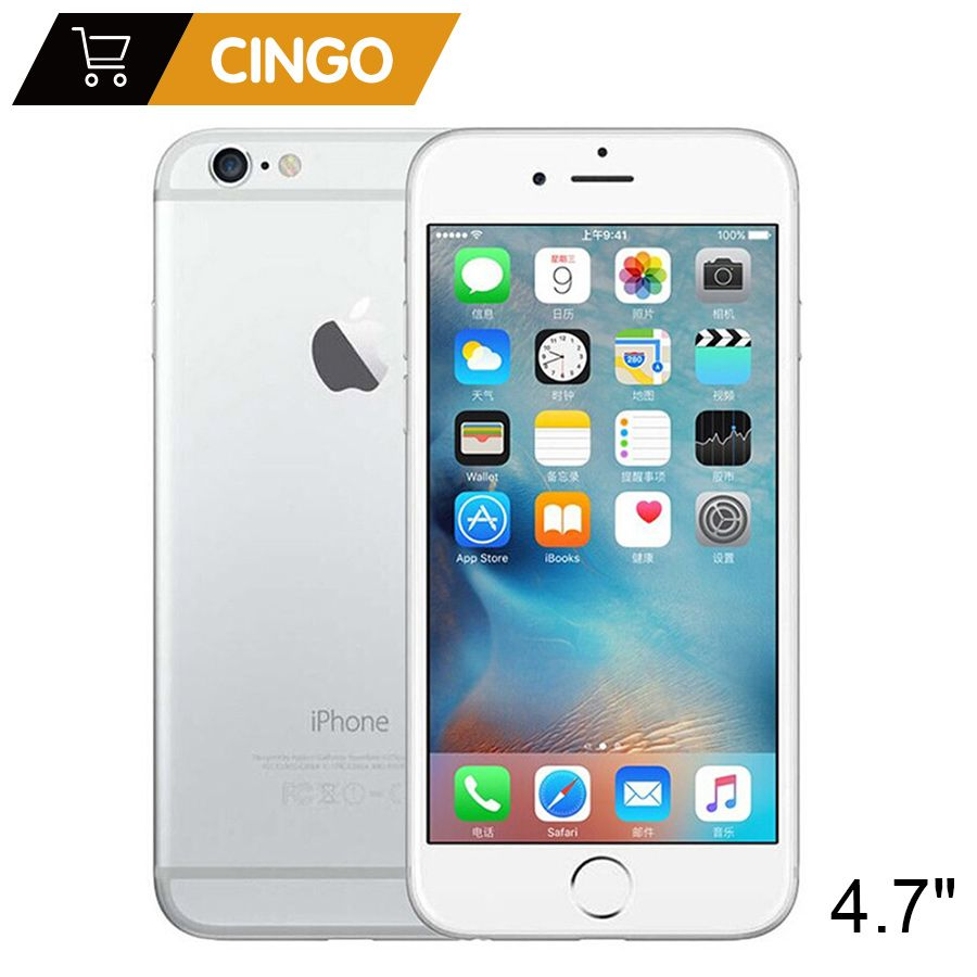 Unlocked <font><b>Apple</b></font> iPhone 6 IOS Dual Core 1.4GHz 1GB RAM 16/64/128GB ROM 4.7 inch 8.0 MP Camera 3G WCDMA 4G LTE Used Mobile phone