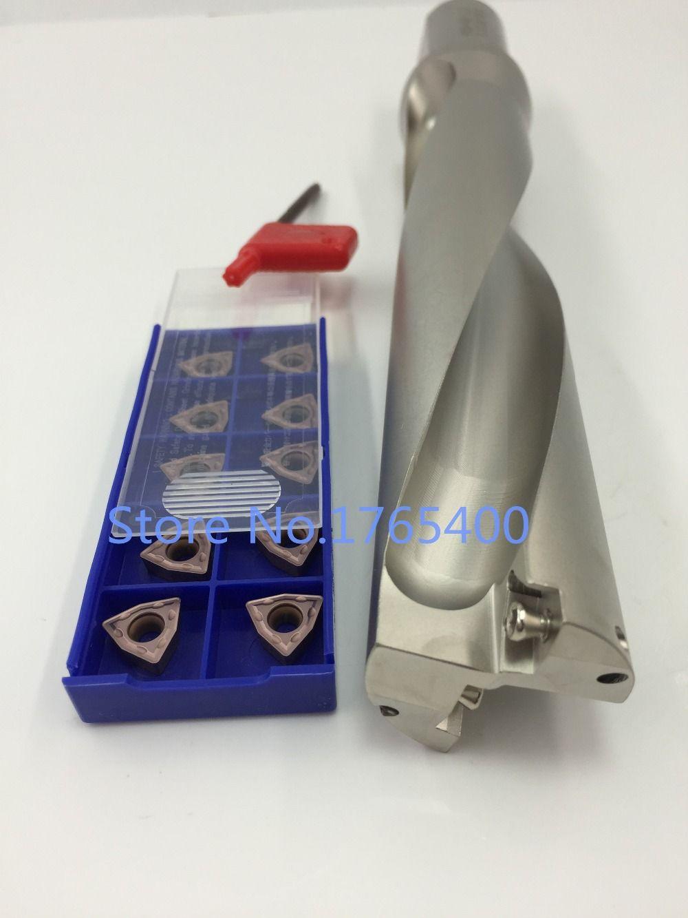 Neue 1 stücke WC SD16-3D-C25 U Bohrer + 10 stücke WCMX030208 ACZ330 hartmetall einsätze wende bohrer werkzeug