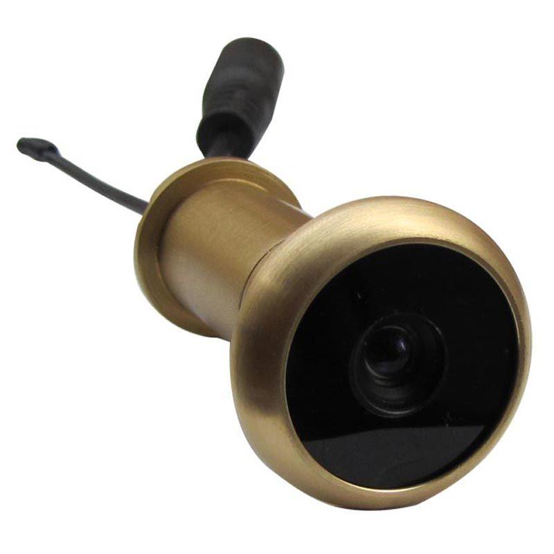 3ÈME 5.8G Sans Fil de Porte Judas Caméra Lentille Pur Matériel En Laiton Porte Caméra 13.8mm Diamètre 90 Degrés VOA Et 0.008lux 720X480pi