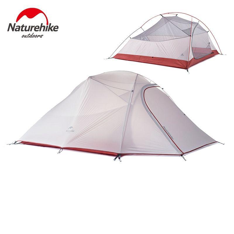 1,8 KG Naturehike Zelt 3 Person 20D Silikon Stoff Doppelschichten Regendicht Camping Zelt NH Außenzelt 4 Saison