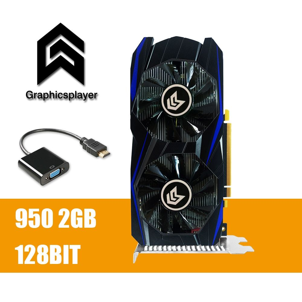Graphics Card PCI-E GTX 950 2GB DDR5 128Bit Placa de Video carte graphique Video Card for Nvidia