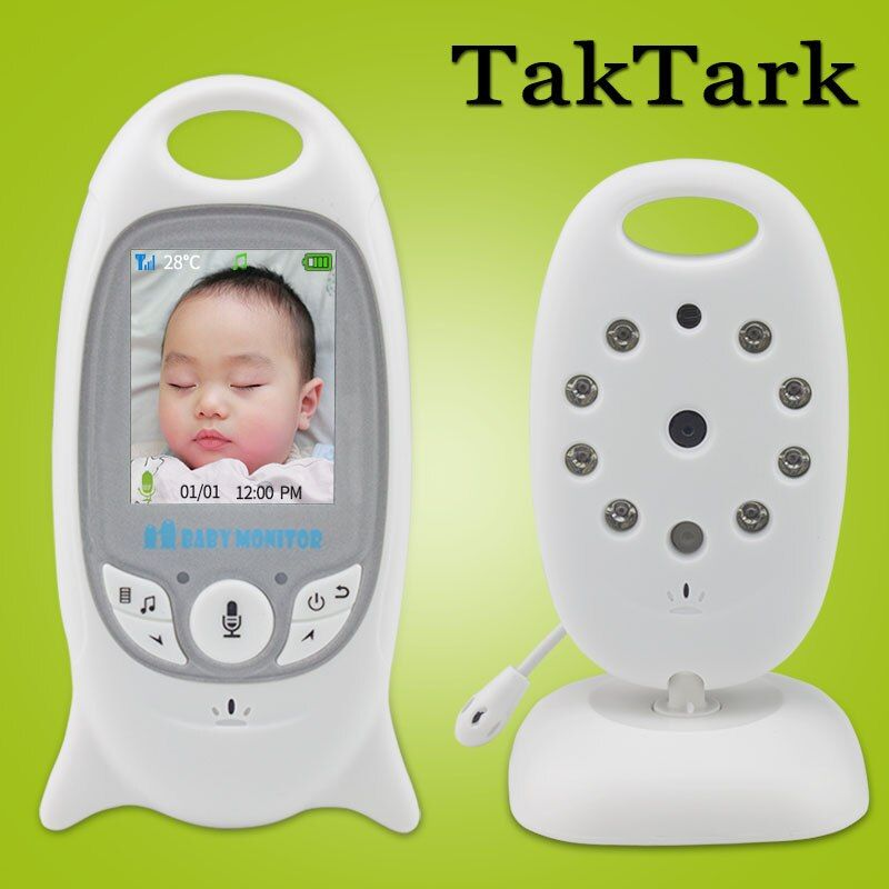Wireless Video Baby Monitor 2.0 inch Color Security Camera 2 Way Talk NightVision IR LED Temperature Monitoring with 8 Lullaby