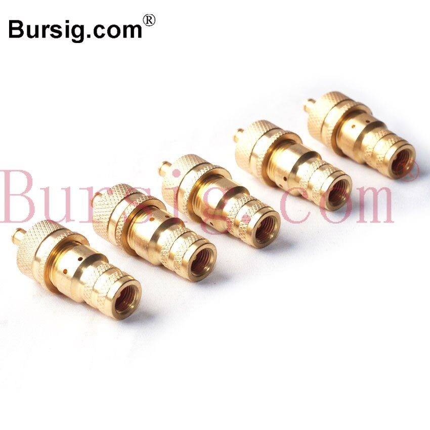 5 Pcs In One Set Adjustable Fit Brass Automatic Tyre Tire Deflator Bleed Valve 6-30psi For 4WD Universal Off Road Car