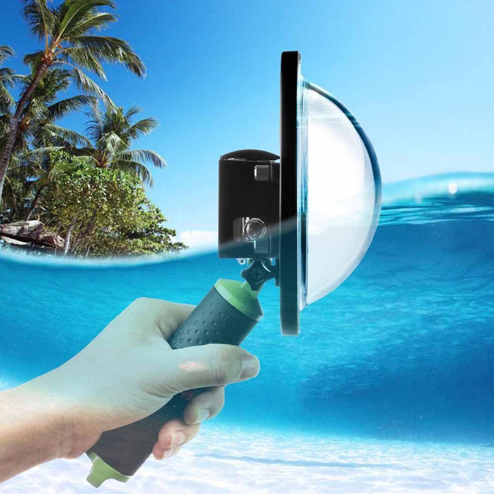 TIRER 6 pouce Plongée Dôme Port pour GoPro Hero 4 3 + Noir Argent Go Pro Caméra avec Boîtier Étanche dôme pour GoPro 3 + 4 Accessoire