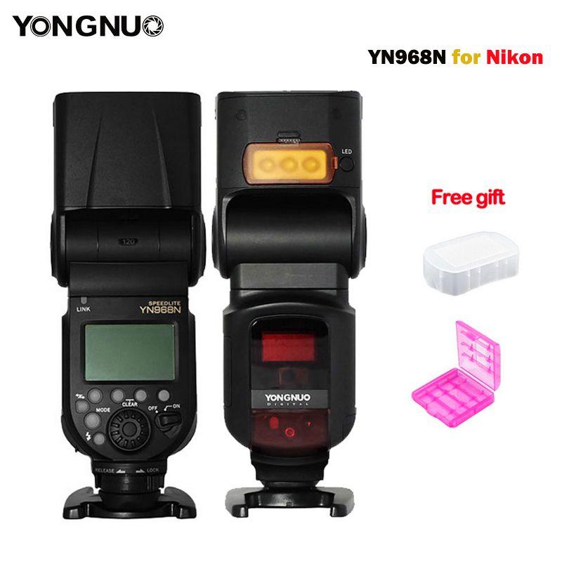 YONGNUO YN968N Flash Speedlite Wireless TTL 1/8000 with LED Light for Nikon Camera Compatible with YN622N and YN560-TX