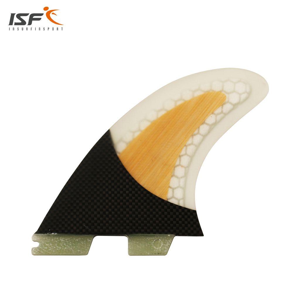 Freies verschiffen Fcs Flossen kohlefaser honeycomb Bambus surf finnen fcs 2 ruder barbatanas de surf Surfbrett flossen SUP flossen