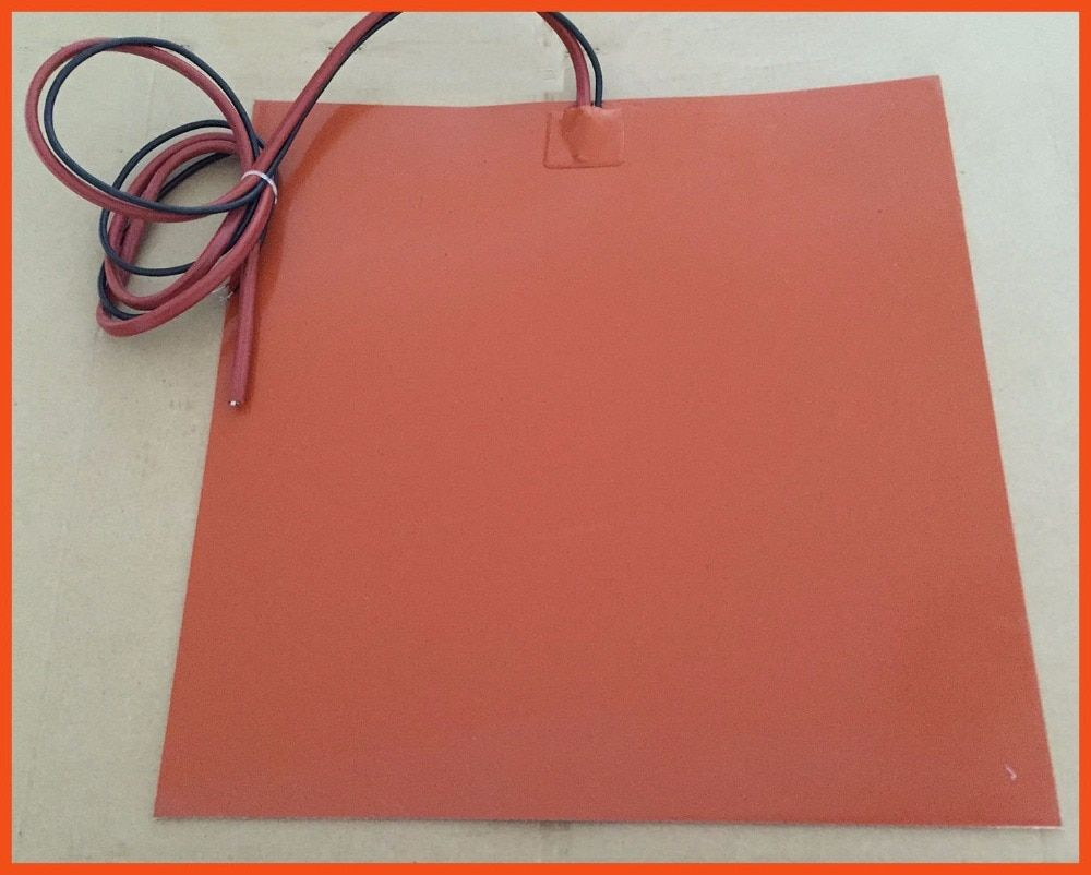 Silicone Rubber Heated Hot Bed For 3D Printer Accessories 12V 225 X 225MM 24V 200W used for A variety of drying machine electric